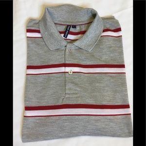 TRUE ROCK men's Sz Large gray polo style shirt